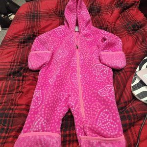 pink Columbia fleece outerwear outfit 6-12months